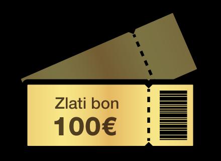 Bon v vrednosti 100 €