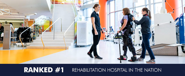 RANKED #1 REHABILITATION HOSPITAL IN THE NATION